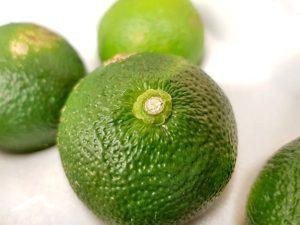 Grüne Yuzu (Aoyuzu) für Yuzukosho