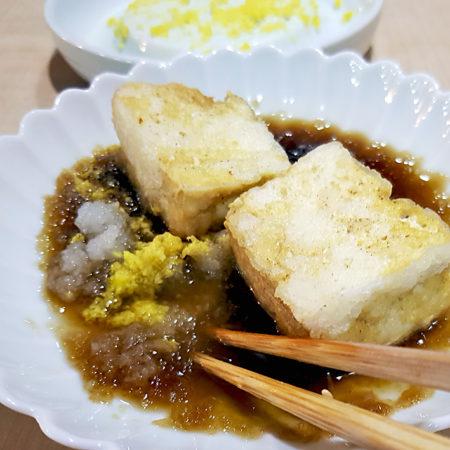 Agedashi Tofu mit etwas viel Tsuyu (European style)