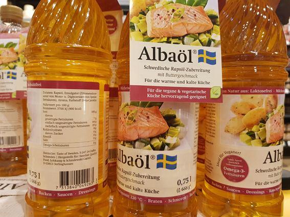 """Wer – bitte – braucht """"Albaöl"""", ein Rapsöl mit Buttergeschmack aus Schweden?"""