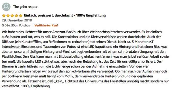 Unsere Amazon-Rezension-ESDDI-Lichtzelt