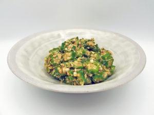 Okra mit weißem Sesam – schleimig und köstlich