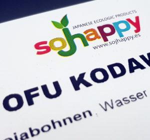 Logo des Tofuherstellers Sojhappy aus Spanien