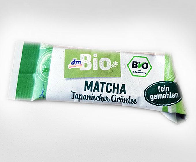 """Da hilft auch """"Bio"""" nichts: die """"fein-herben"""" Matcha Sticks vom dm-Markt"""