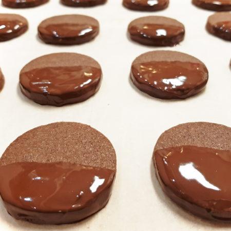 Kakaoplätzchen mit Ingwer