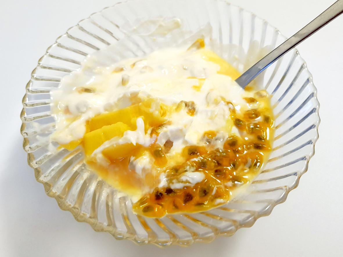 Joghurt mit Mango und Passionsfrucht oder: Was bringe ich aus Bangkok mit