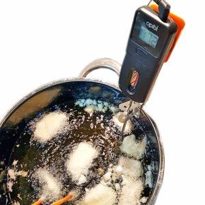 Oprol Thermometer im Einsatz bei Tempura