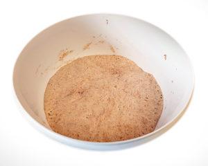 """Brot mit Lievito Madre, ohne Kneten (""""senza impasto"""" oder """"no knead"""") – eine alte Technik aus Süditalien"""