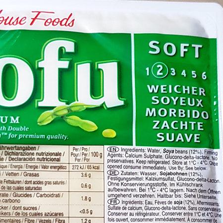 Mit Skala: Weicher Tofu von House Foods der Stufe 2