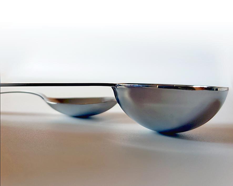 Volumen-Gewichtsverhältnis von pulverförmigen Kleinmengen