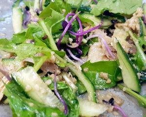 Salat auf Japanisch: Das Sesamdressing