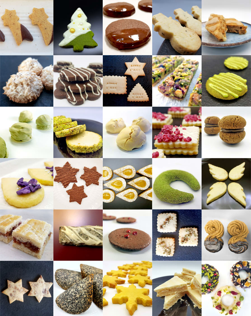 Beautiful Cookies - The Japanese Way: All 30 Recipes at a glance