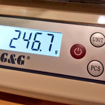 Anzeige des Gewichts in Gramm