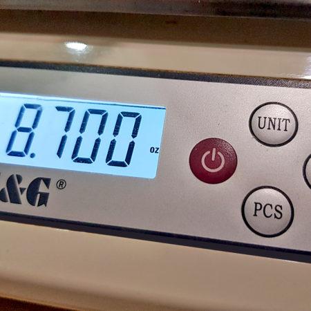 Anzeige des Gewichts in Unzen (Ounces)