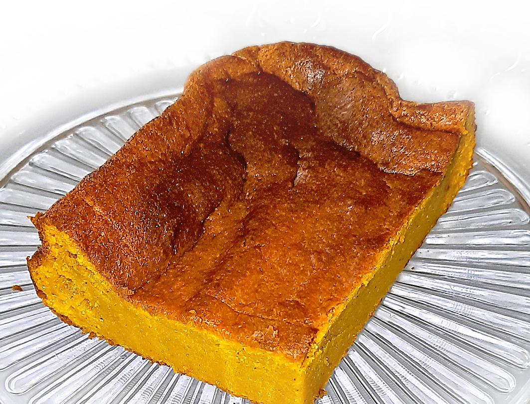 Besser als Pumpkin Pie – dieser Kürbiskuchen ohne Boden eigent sich sogar als Dessert. Sweet Mama ist der ideale Kürbis dafür