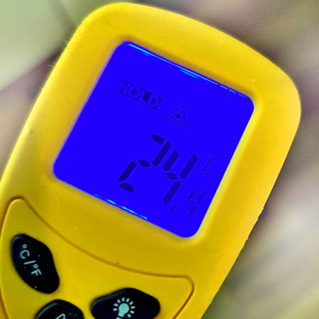 Digitalthermometer mit Temperaturanzeige in Celsius