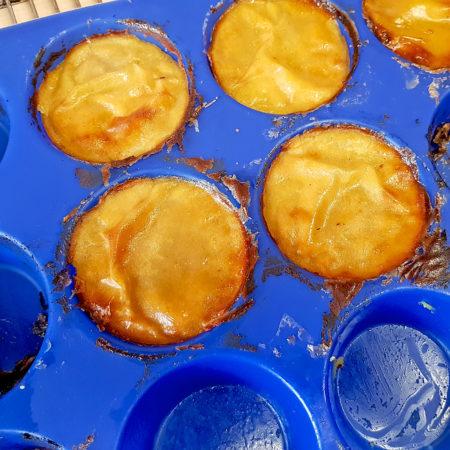 Sweet Potato - Süßkartoffel-Törtchen - nach dem Backen in Muffinform
