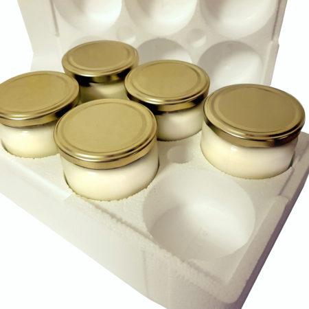 Joghurtbereiter ohne Strom für 6 Gläser (insges. ca. 2 Liter)
