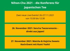 Read more about the article Meine neueste Süßspeisen-Kreation live auf der Nihon-Cha am 27.11.2021